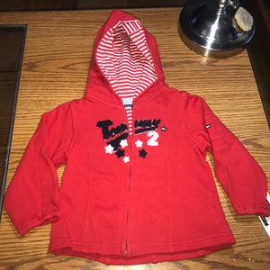 Tommy Hilfiger zip front red jacket 12-18M NWT
